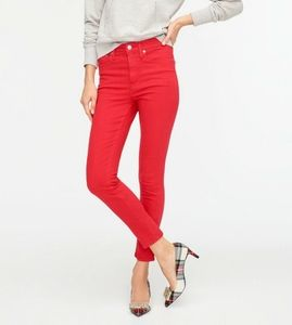 J. Crew Red Toothpick Jeans Size 28 Ankle